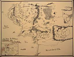 Lotr Map Download A Map Of Middle Earth Major Tourist Attractions Maps