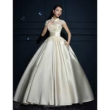 Ball Gown Wedding Dresses Uk Ball Gown Wedding Dress Ruby Champagne Floor Length High Neck