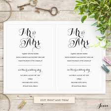 Downloadable Wedding Program Templates Byron Printable Wedding Order Of Service Template Save The Date