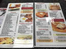 Long Neck Diner breakfast menu Picture of Long Neck Diner