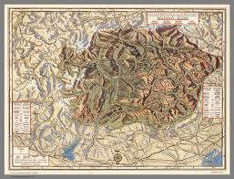 Dolomites Italy Map by Bolzano Bozen And The Dolomites David Rumsey Historical Map