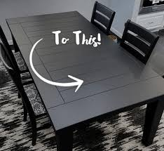 DIY Painted Dining Room Table Refinishing Project Behr - Refinish dining room table