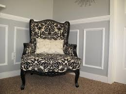 furniture how to reupholster a wingback chair with black and