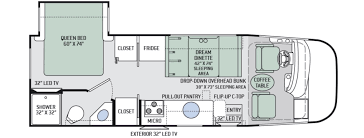 thor motor coach axis 25 winnebago 5th wheel floor plans new or