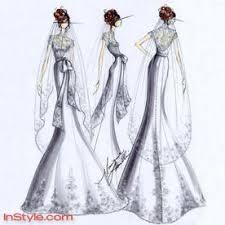 fashion designers sketch bella u0027s wedding dress instyle com
