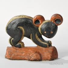 cast iron and paint decorated taylor cook koala bear doorstop