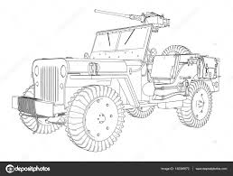 jeep vector army jeep vector u2014 stock vector nesacera 138390572