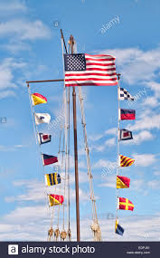 Sea Flag Meanings Maritime Signaling Flags Used At Sea For Communication Between