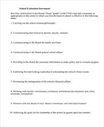 10 evaluation form samples free sample example format