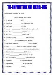 infinitive worksheets free worksheets library download and print