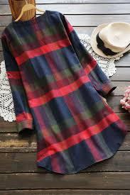 cupshe walk the shine plaid dress
