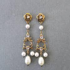 pearl chandelier earrings best gold and pearl chandelier earrings products on wanelo