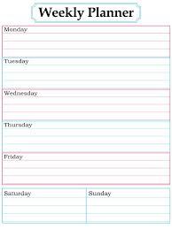 best free printable weekly planner weekly planner template printable free printable planner template