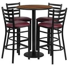 flash furniture 30 round black and burgundy bar restaurant table