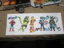 tyler painting spiderman hulk iron man captain america