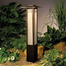 kichler led lights kichler 15392oz one light bollard landscape path lights amazon com