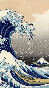 blue bubble waves wallpapers japanese painting old wallpaper japanese painting japanese and