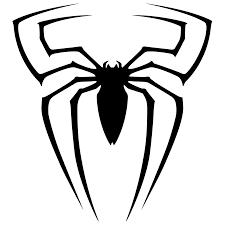 spiderman logo clipart black white free spiderman logo