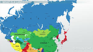 Central Asia Map by Major Landforms Of Russia U0026 Central Asia Video U0026 Lesson
