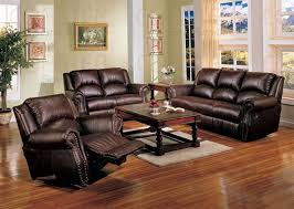 Brown Leather Recliner Sofa Set Leather Reclining Sofa Sets Home Design Ideas And Pictures