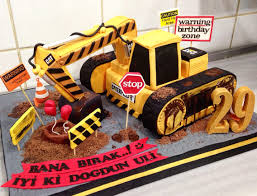 caterpillar cat machine construction birthday cake centhu