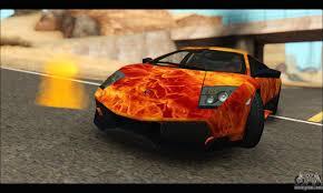 Lamborghini Murcielago 2014 - lamborghini murcielago in flames for gta san andreas