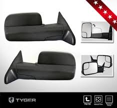 towing mirrors for dodge ram 3500 tyger oe style play towing mirrors 2pcs set manual convex