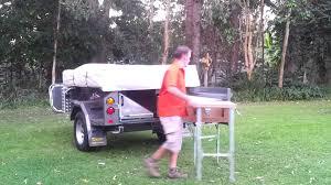 custom camper trailer kitchen setup youtube