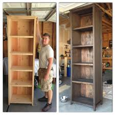 Anna White Bookcase by My Husband Pictured With His Awesome Man Apron And I Built The