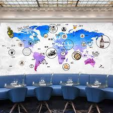map mural aliexpress com buy custom wall mural map mural restaurant