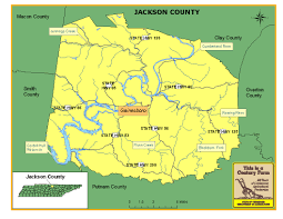 Map Tennessee Jackson County Tennessee Century Farms
