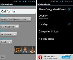 infinity calendar and customizable calendar app for