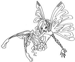 Winx Club Bloom Coloring Pages  Costumepartyrun
