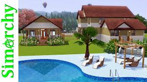 the sims 3 house tour victorian home with large yard pool