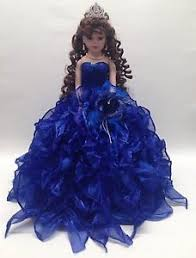quinceanera dolls new royal blue 20 inch 15 anos quinceanera ruffle porcelain