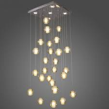 Meteor Shower Lights Contemporary Led Crystal Chandelier Light Fixture Magic Lustre