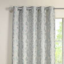 Duck Egg Blue Damask Curtains Elizabeth Duckegg Luxury Jacquard Lined Eyelet Curtains Pair