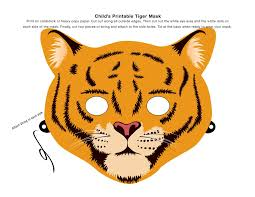 Printable Halloween Masks For Children 80 best tigers images on pinterest tiger mask masks and tigers