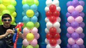 balloon columns easy dollar store balloon columns tutorial