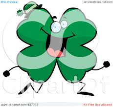 royalty free rf clipart illustration of a shamrock clover