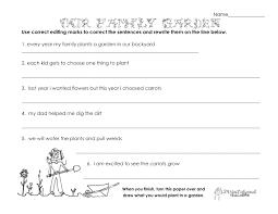 our family garden grammar worksheet squarehead teachers