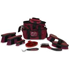 bentley burgundy bentley slip not deluxe equestrian 10 piece grooming sets