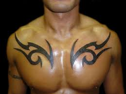 45 intriguing chest tattoos for chest tribal chest