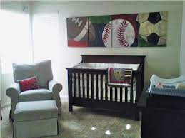 Sports Theme Crib Bedding Baby Nursery Decor Green Wallpaper Baby Boy Sports Nursery