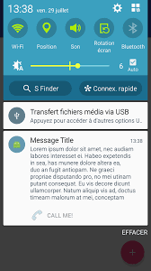 in background android firebase android notifications not expanded when app in