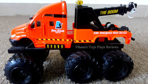 tow truck videos monster truck maisto tow truck quarry monsters u2013 unboxing demo u0026 review