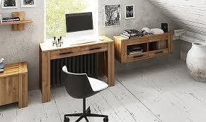 bureau massif moderne en chene massif moderne cubic