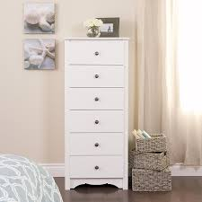 Off White Bedroom Chests Amazon Com White Monterey Tall 6 Drawer Chest Kitchen U0026 Dining