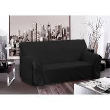 housse canapé noir housse de canapé 205x90x60cm