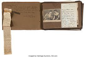 leather bound scrapbook claude rains leather bound scrapbook with handwritten letter